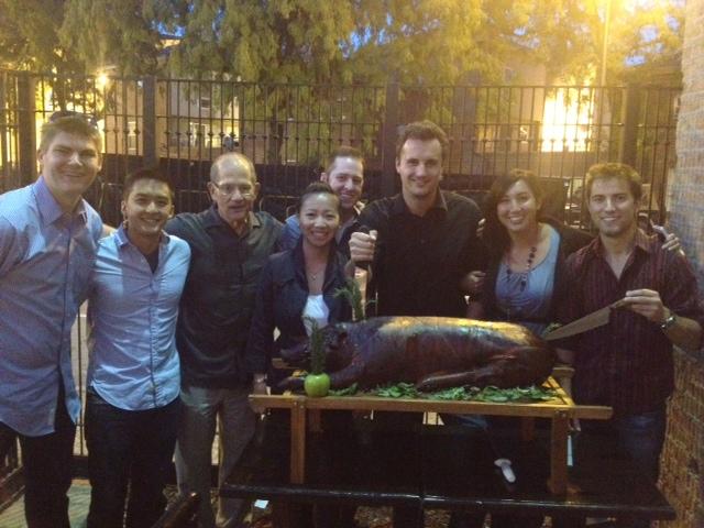 photo pig roast Chicago alumni September 2012